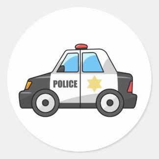 Cool Cartoon Police Car Classic Round Sticker