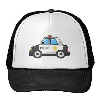 Cool Cartoon Police Car Mesh Hats