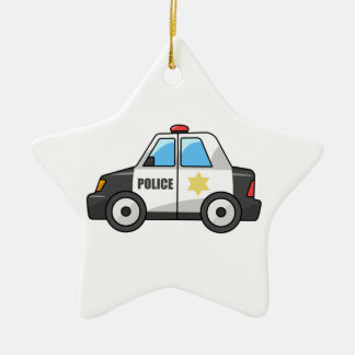 Cool Cartoon Police Car Christmas Ornaments