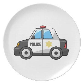 Cool Cartoon Police Car Plate