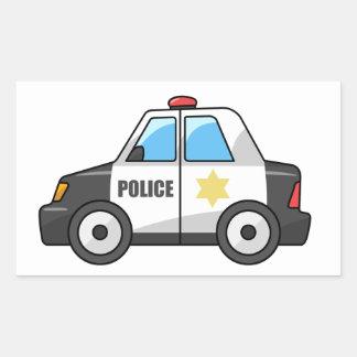 Cool Cartoon Police Car Rectangular Sticker