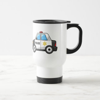 Cool Cartoon Police Car Travel Mug
