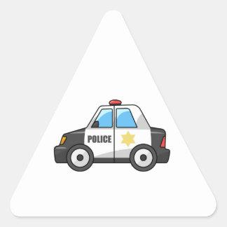 Cool Cartoon Police Car Triangle Sticker