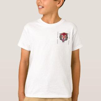 Cool cartoon tattoo symbol angry feral tiger T-Shirt