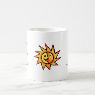 Cool cartoon tattoo symbol comic  Sun Face Coffee Mug