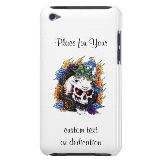 Cool cartoon tattoo symbol dragon skull flames Case-Mate iPod touch case