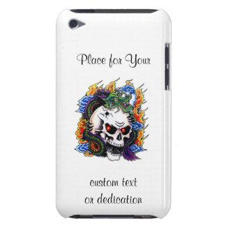 Cool cartoon tattoo symbol dragon skull flames iPod touch case