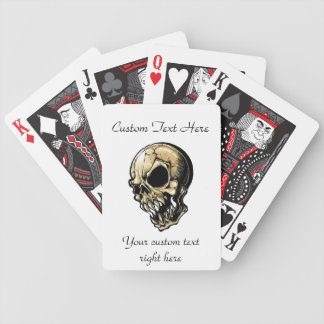 Cool cartoon tattoo symbol evil ink skull bicycle playing cards