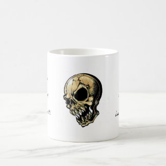 Cool cartoon tattoo symbol evil ink skull coffee mug