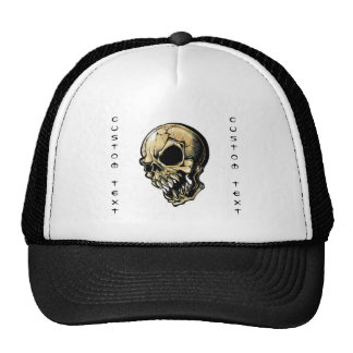 Cool cartoon tattoo symbol evil ink skull trucker hat
