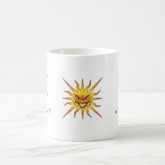 Cool cartoon tattoo symbol evil Sun face Coffee Mug