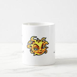 Cool cartoon tattoo symbol Female Lady Sun Coffee Mug