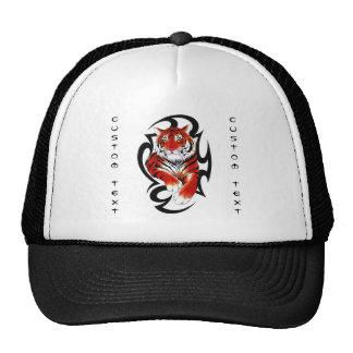Cool cartoon tattoo symbol feral Tribal Tiger Trucker Hat