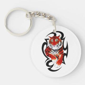 Cool cartoon tattoo symbol feral Tribal Tiger Keychain