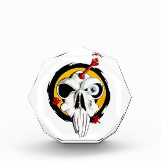 Cool cartoon tattoo symbol funny skull arrows acrylic award
