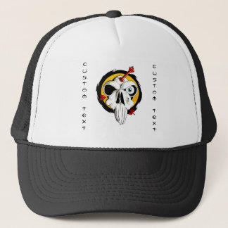 Cool cartoon tattoo symbol funny skull arrows trucker hat