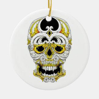 Cool cartoon tattoo symbol gothic ornament skull