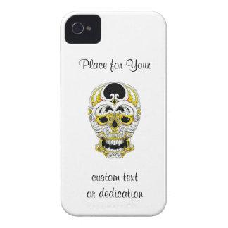 Cool cartoon tattoo symbol gothic ornament skull iPhone 4 Case-Mate case