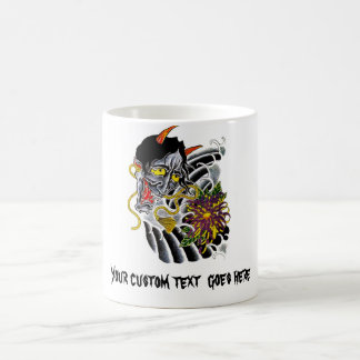 Cool cartoon tattoo symbol japanese demon flower mugs