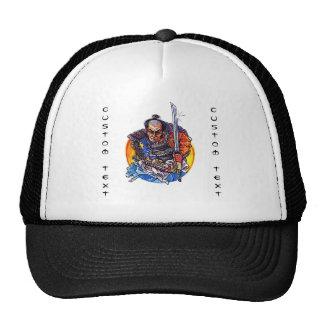 Cool cartoon tattoo symbol japanese Samurai Katana Trucker Hat