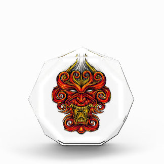 Cool cartoon tattoo symbol oriental demon mask award