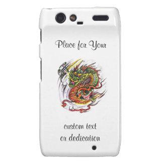 Cool cartoon tattoo symbol oriental Dragon Droid RAZR Cases