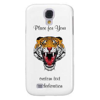 Cool cartoon tattoo symbol roaring feral tiger samsung galaxy s4 case