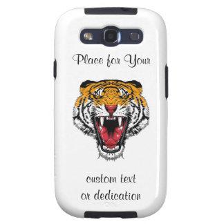 Cool cartoon tattoo symbol roaring feral tiger samsung galaxy SIII cases