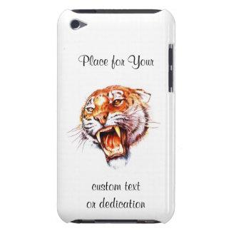 Cool cartoon tattoo symbol roaring tiger head iPod Case-Mate cases