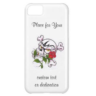 Cool cartoon tattoo symbol skull bones rose iPhone 5C case