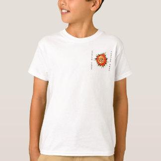 Cool cartoon tattoo symbol Sun Face Flame T-Shirt
