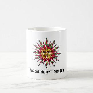 Cool cartoon tattoo symbol Sun God Face head Coffee Mug