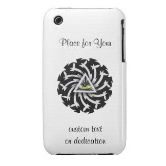 Cool cartoon tattoo symbol Third Eye Wisdom Case-Mate iPhone 3 Case