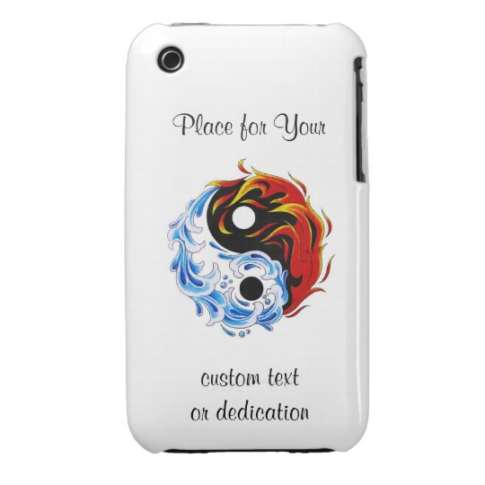 Cool cartoon tattoo symbol water fire Yin Yang Case-Mate iPhone 3 Case