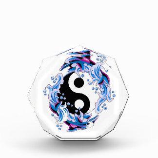 Cool cartoon tattoo symbol Yin Yang Dolphins Award