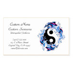 Cool cartoon tattoo symbol Yin Yang Dolphins Double-Sided Standard Business Cards (Pack Of 100)