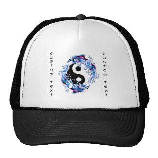 Cool cartoon tattoo symbol Yin Yang Dolphins Trucker Hats