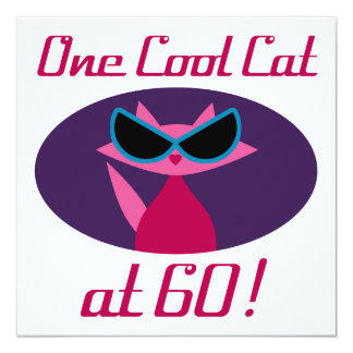 Cool Cat 60th Birthday Card