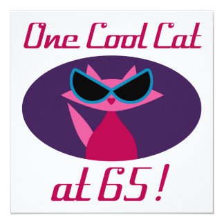 Cool Cat 65th Birthday Card