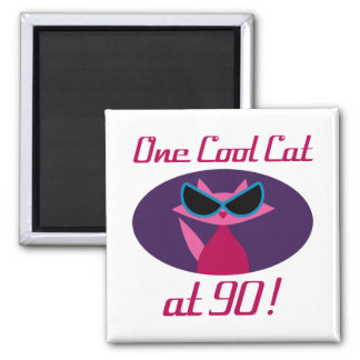 Cool Cat 90th Birthday Magnet