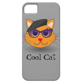 Cool Cat Beatnik Hip Musician with Beret iPhone SE/5/5s Case