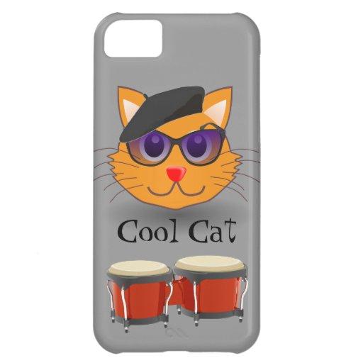 Cool Cat Beret Bongos Beanik Hip Generation Retro iPhone 5C Covers
