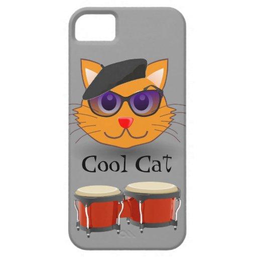 Cool Cat Beret Bongos Beanik Hip Generation Retro iPhone 5 Case