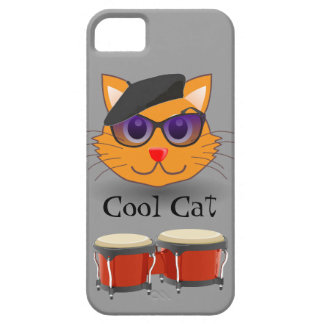 Cool Cat Beret Bongos Beanik Hip Generation Retro iPhone SE/5/5s Case