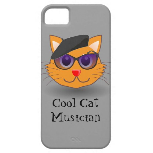 Cool Cat Beret Funny Jazz Musician Retro Music iPhone 5 Covers