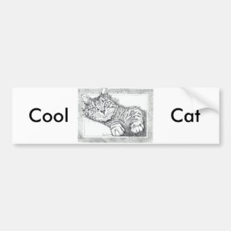 Cool Cat Bumper Sticker
