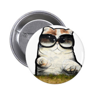 Cool Cat 2 Inch Round Button