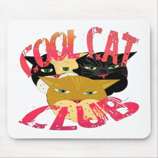 Cool Cat Club gifts and greetings Mouse Pad