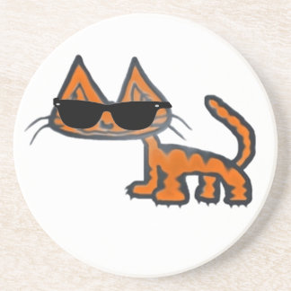 Cool Cat Drink Coaster