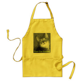 Cool Cat Cookin' Adult Apron